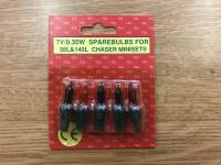 Spare Multi Coloured 7v Bulbs
